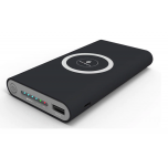Battery Bank 10000 mAh (Black) Wireless Charging D4