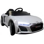 """""""Audi R8 Sport"""" (balta) - su minkštais ratais ir odine sėdyne"""