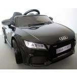 Electrical car Audi TT RS (black) - Soft wheels, leather seat