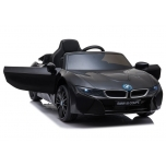 Electric car BMW I8 (Black) - with soft wheels and leather seat