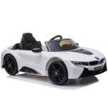 Electric car BMW I8 (white) - with soft wheels and leather seat