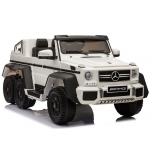 Mercedes 6x45W (balta) 6X6, LCD, minkšti ratai, oda