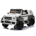 Mercedes 6x45W (baltas) 6X6, LCD, minkšti ratai, oda