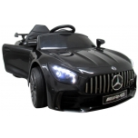 Electric car Mercedes GTR-S (black) - leather, soft wheels