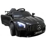 Sähköauto Mercedes GTR-S (musta) - nahka, pehmeät pyörät