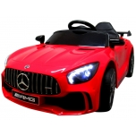 Electric car Mercedes GTR-S (red) - leather, soft wheels