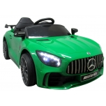 Electric car Mercedes GTR-S (green) - leather, soft wheels