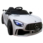 Electric car Mercedes GTR-S (white) - leather, soft wheels