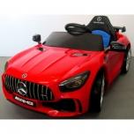 Sähköauto Mercedes GTR (Punainen) - nahka, pehmeät pyörät