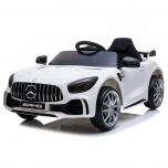 "Elektromobilis ""Mercedes GTR"" (baltas) - oda, minkšti ratai"