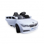 Electrical car for Children BMW B4 (white)- X5 replica - soft wheels,leather seat