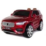 Elektromobilių kabrioletas VOLVO XC90 - odinis salonas, minkšti EVA ratai (Raudona)