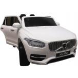 Sähköauton avoauto VOLVO XC90 - nahkaverhoilu, pehmeät EVA-pyörät (Valkoinen)