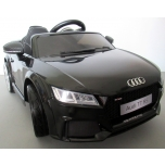 Elektriauto Audi TT RS (must) - pehmete rataste ja nahkistmega