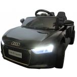 Elektriauto Audi R8 Spyder (Must) - pehmete rataste ja nahkistmega