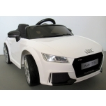 Electrical car Audi TT RS (White) - Soft wheels, leather seat